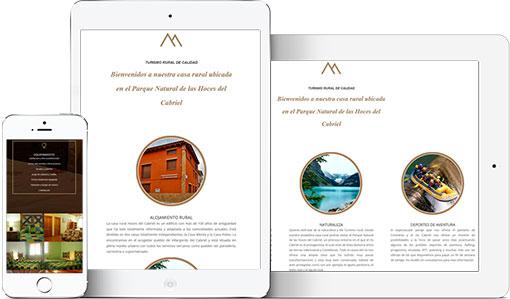 Pagina web casa rural hoces del cabriel viste tu web a for Paginas para disenar casas